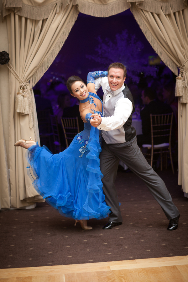 Bride and Groom Perform a Waltz for their First Dance | photographer - Portrait Design by Shanti
