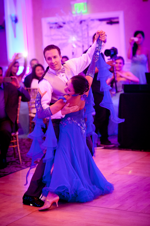 Bride and Groom Waltz for their First Dance at their Winter Themed Wedding | photographer - Portrait Design by Shanti