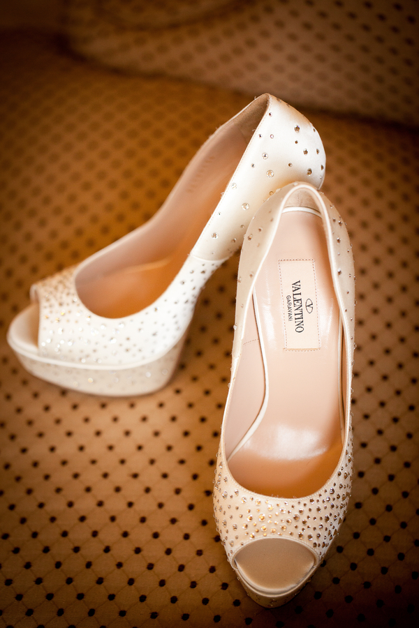 Sparkly Valentino Wedding Shoes | photographer - Portrait Design by Shanti
