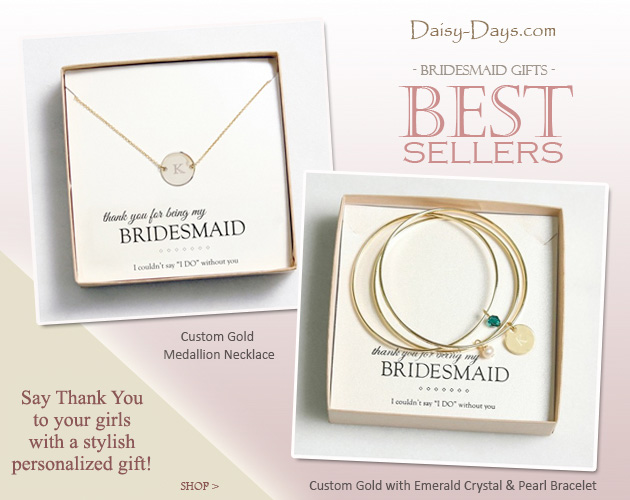 #Bridesmaid #Gifts | Say thank you to your girls with a stylish #personalized #gift