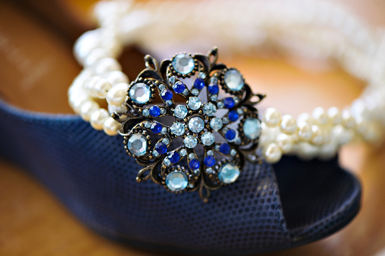 Gorgeous Handmade Bridal Necklace for a 4th of July Wedding | from Rebecca Watkins Photography