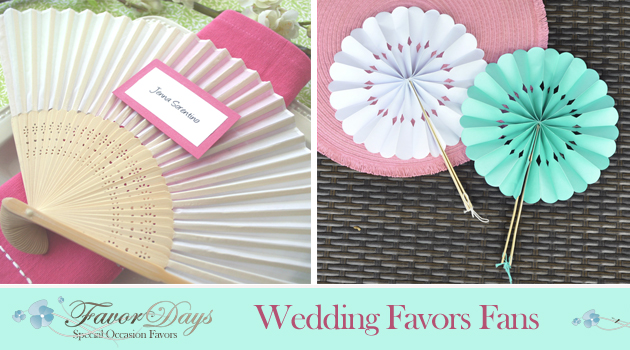 Wedding Favor Fans : the pretty way to keep guests cool