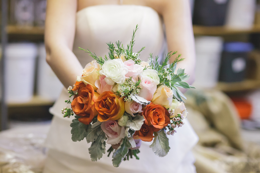 Beautiful Lush Wedding Bouquet from Eight Tree Street | as seen on BrendasWeddingBlog.com