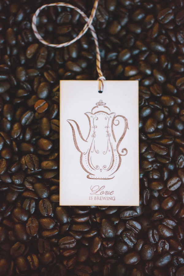 Love is Brewing Gift Tag | as seen on BrendasWeddingBlog.com