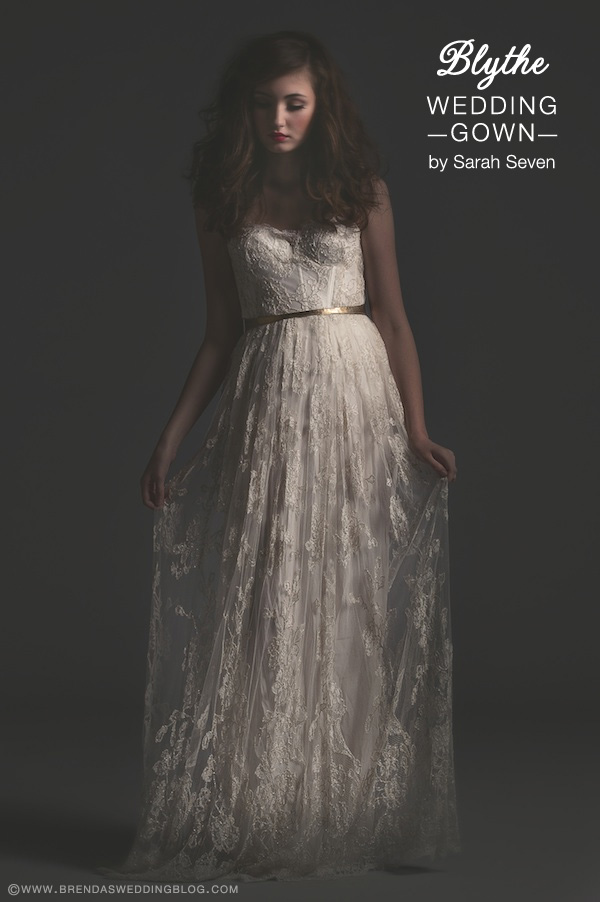 Sarah Seven Wedding Gown : style Blythe . . . high-waisted skirt and sweetheart bodice {perfect for the hour glass shaped bride}