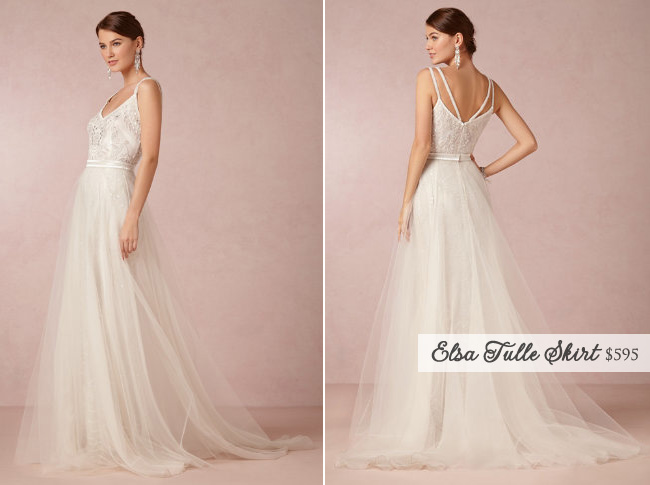 The Convertible Elsa Wedding Gown from BHLDN