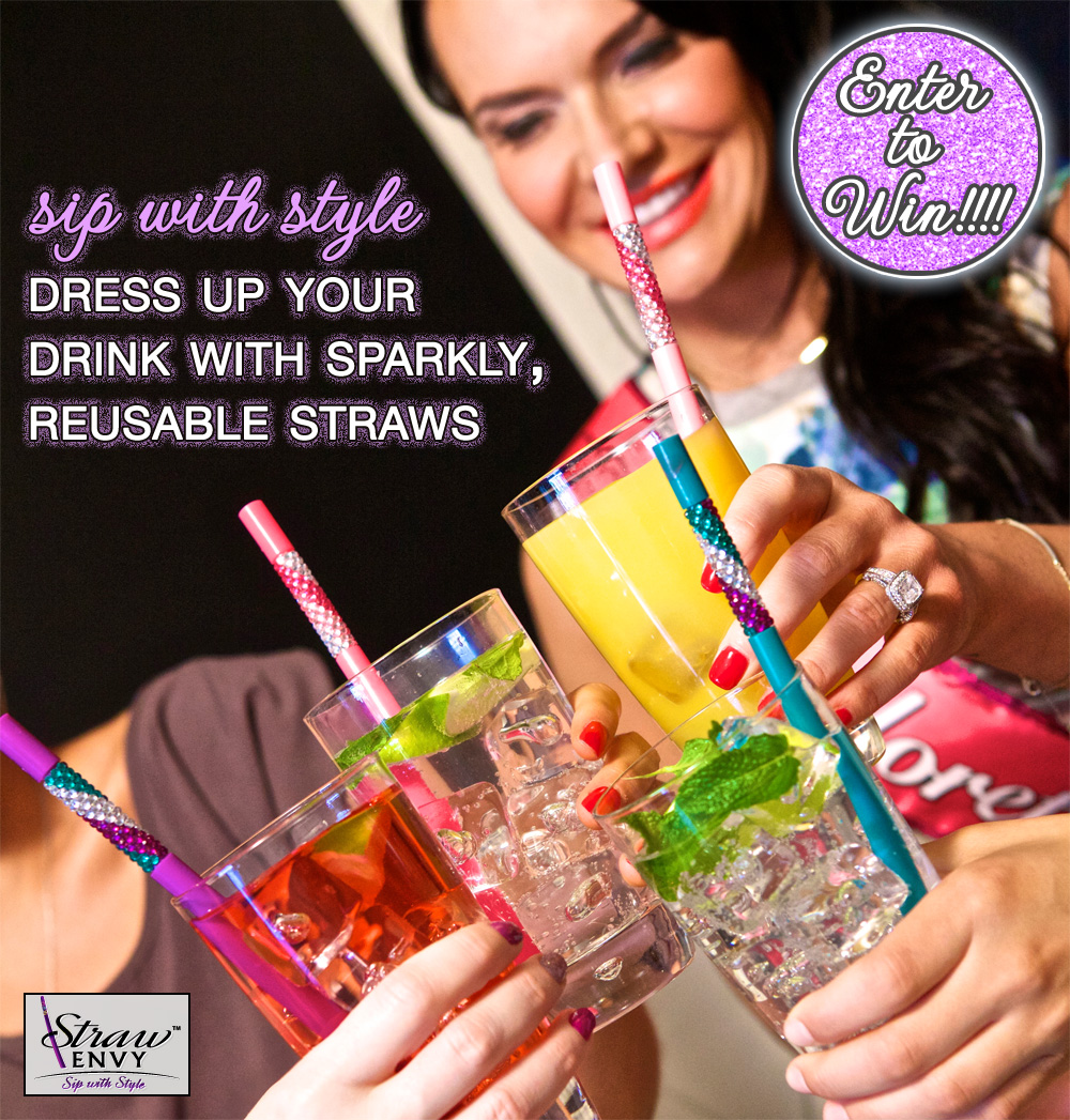 Sip your Favorite Drinks with Style : Enter to Win Sparkly Reusable Straws from Straw Envy on BrendasWeddingBlog.com