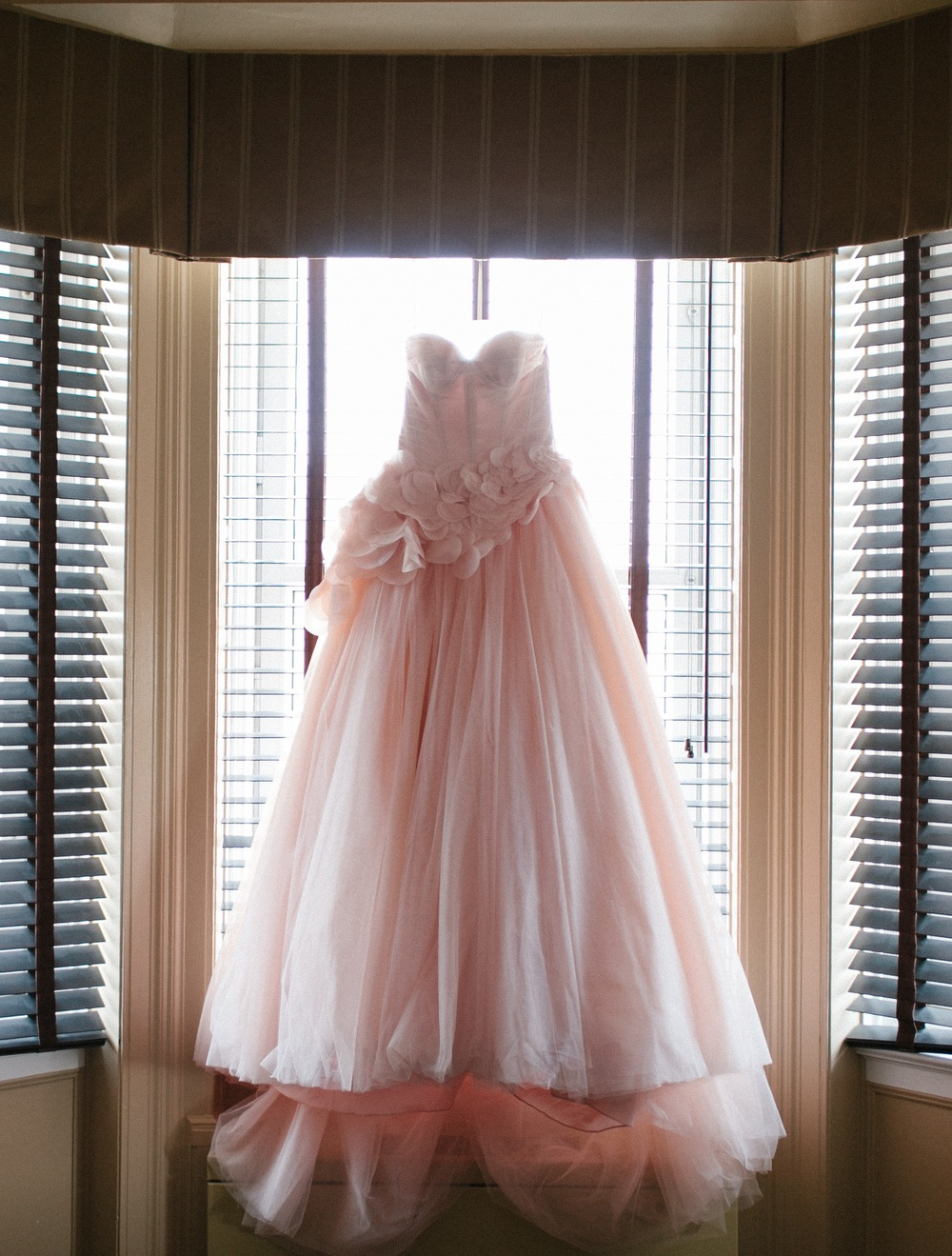 Pink Vera Wang Wedding Gown | photo by blf Studios | wedding by Madeline's Weddings