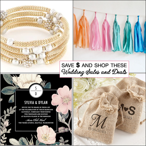 Save $ Money When Shopping These Wedding Sales and Deals on Brenda's Wedding Blog