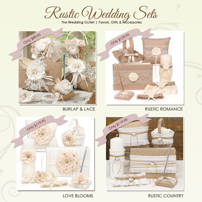 Rustic Wedding Themes : Ceremony And Reception Wedding Sets