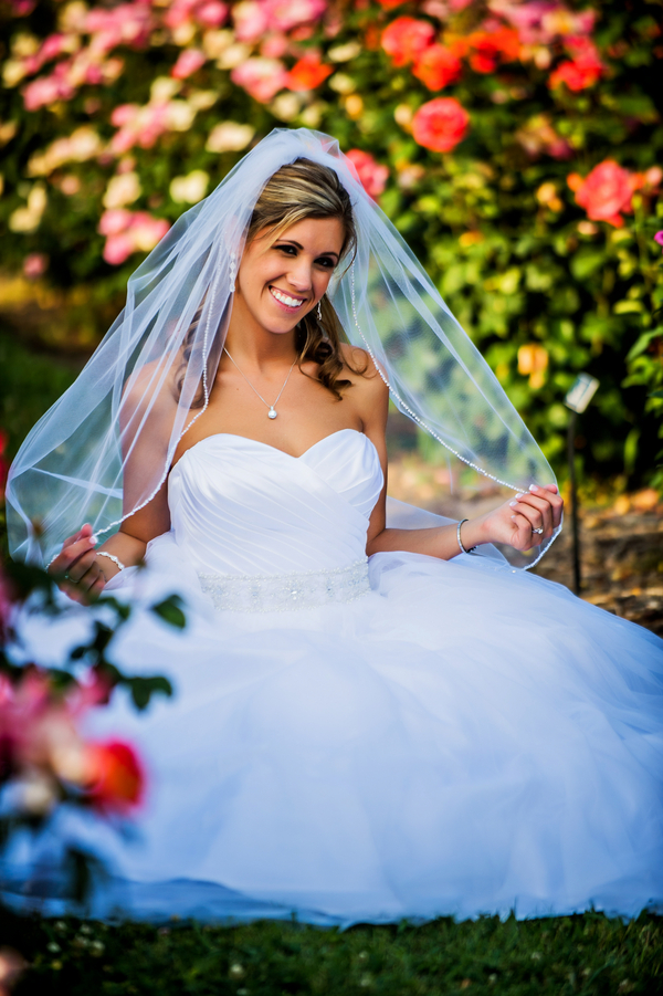Gorgeous Bride in a Botanical Garden | photo by Ross Costanza Photography | as seen on www.BrendasWeddingBlog.com