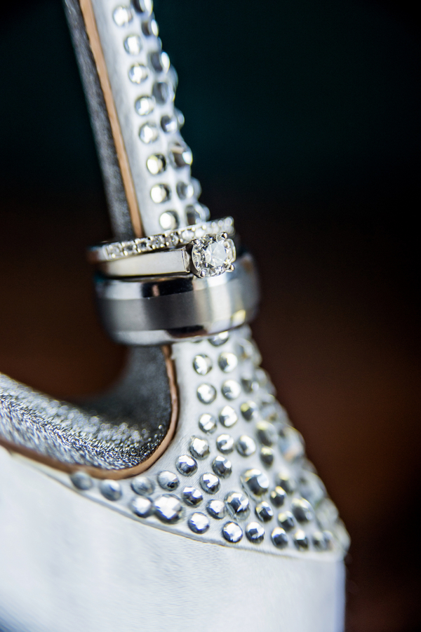 Amazing Ring Shot on a Nine West Wedding Shoe Heel | photo by Ross Costanza Photography | via www.BrendasWeddingBlog.com
