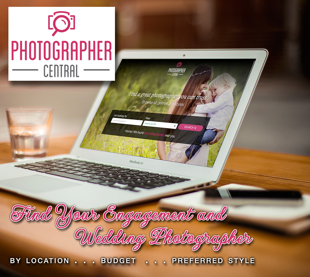 Find Your Engagement or Wedding Photographer Easily at Photographer Central : search by location, budget and preferred style | via www.brendasweddingblog.com