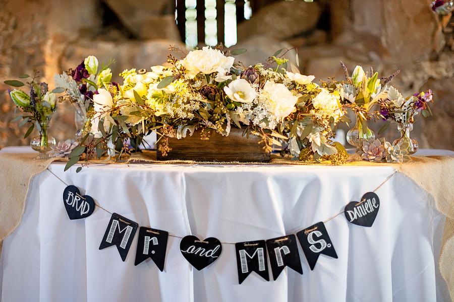 Chalkboard Mr and Mrs Wedding Banner   Photo by William Innes Photography   via www.brendasweddingblog.com