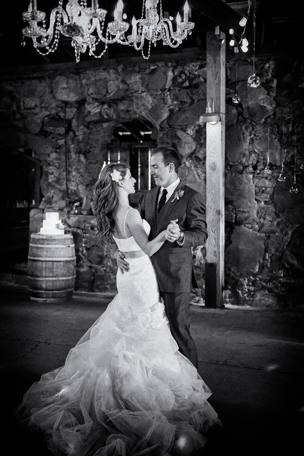 Gorgeous Black and White Photo of the Couple's First Dance | Photo by William Innes Photography | via www.brendasweddingblog.com