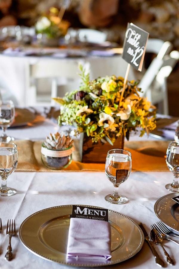 Rustic Wedding Table Setting   Photo by William Innes Photography   via www.brendasweddingblog.com