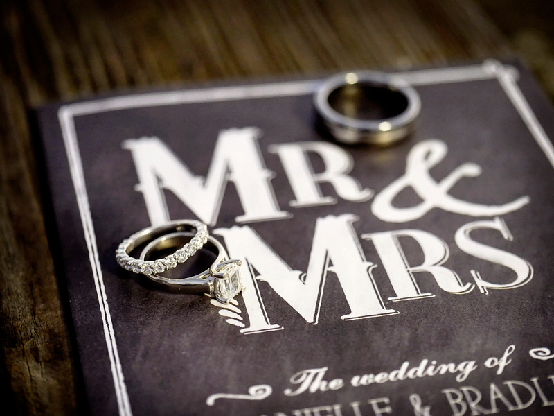 Wedding Rings on the Chalkboard Styled Wedding Invitation | Photo by William Innes Photography | via www.brendasweddingblog.com