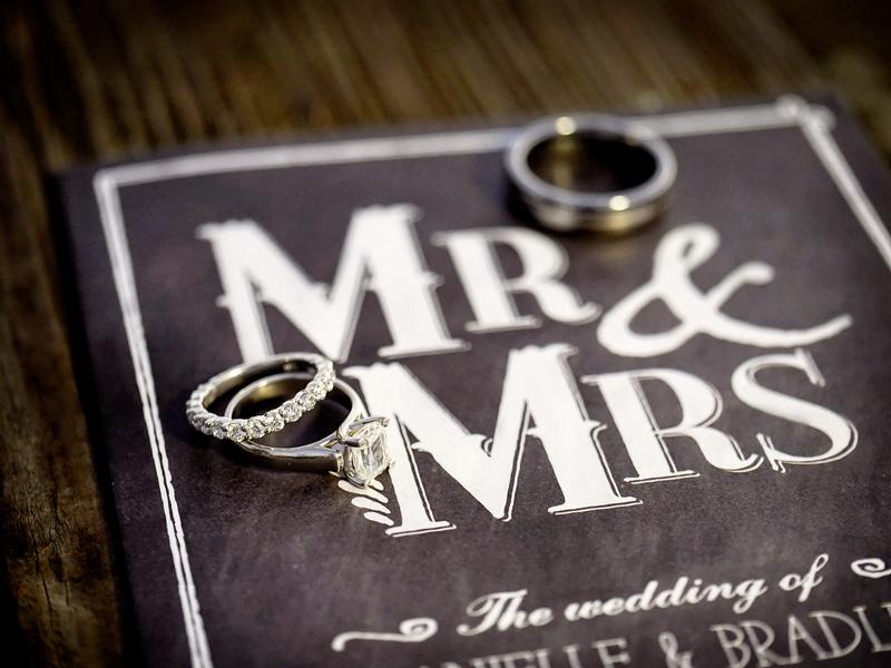Wedding Rings on the Chalkboard Styled Wedding Invitation   Photo by William Innes Photography   via www.brendasweddingblog.com