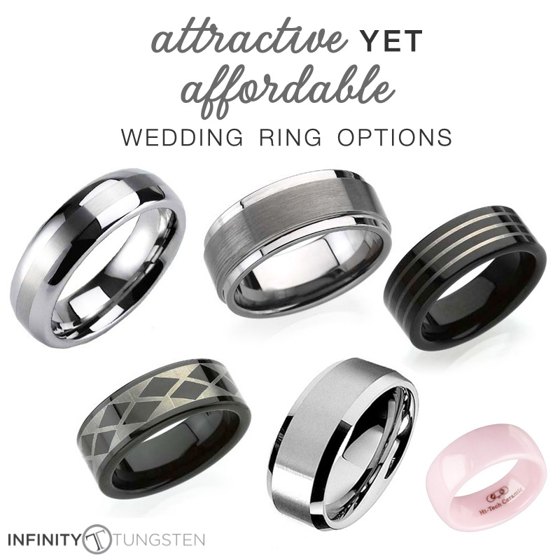 Attractive Yet Affordable Wedding Rings with Infinity Tungsten   only $39.99