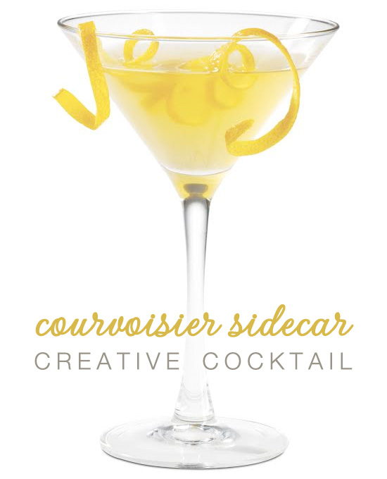 Courvoisier Sidecar Signature Wedding Cocktail Recipe   as seen on www.brendasweddingblog.com