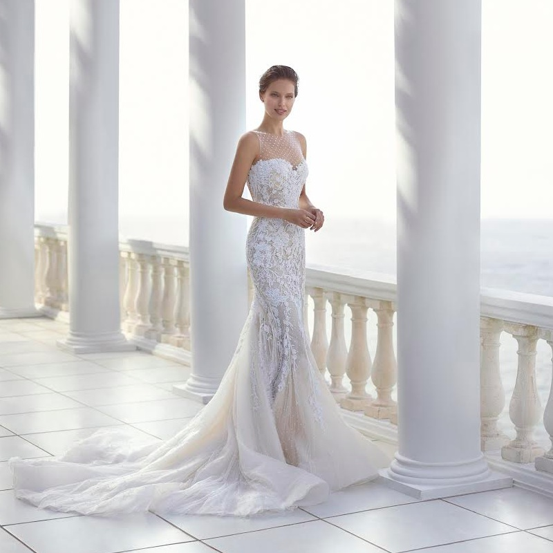 Pronovias Wedding Gown 2015 Collection | Clarisa Style | as seen on www.brendasweddingblog.com