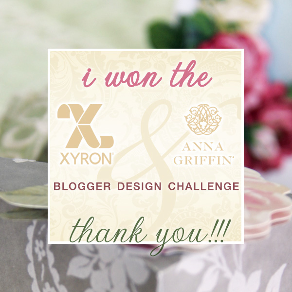"Thank You for the Votes! I have won the Say ""I Do"" Blogger Design Challenge with Xyron and Anna Griffin 