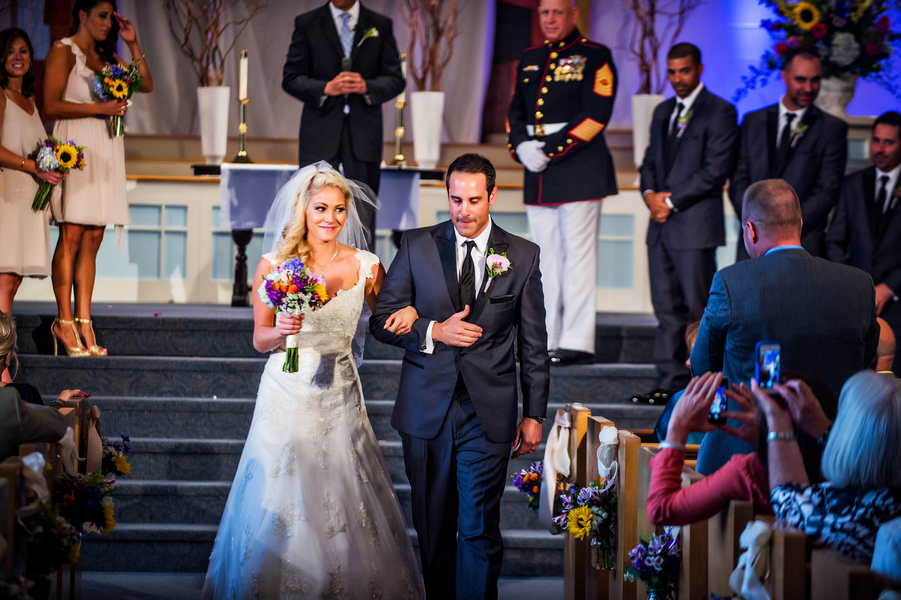 The Married Couple at Trinity Church | photo by Ross Costanza Photography | as seen on www.brendasweddingblog.com