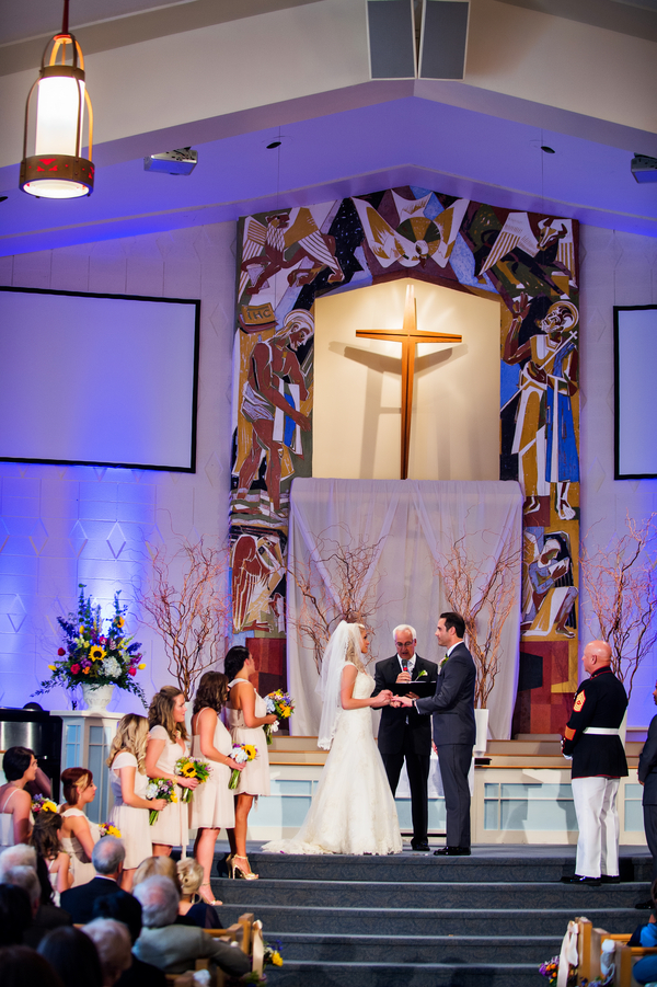 The Bride and Groom Marry at Trinity Church in Virginia | photo by Ross Costanza Photography | as seen on www.brendasweddingblog.com