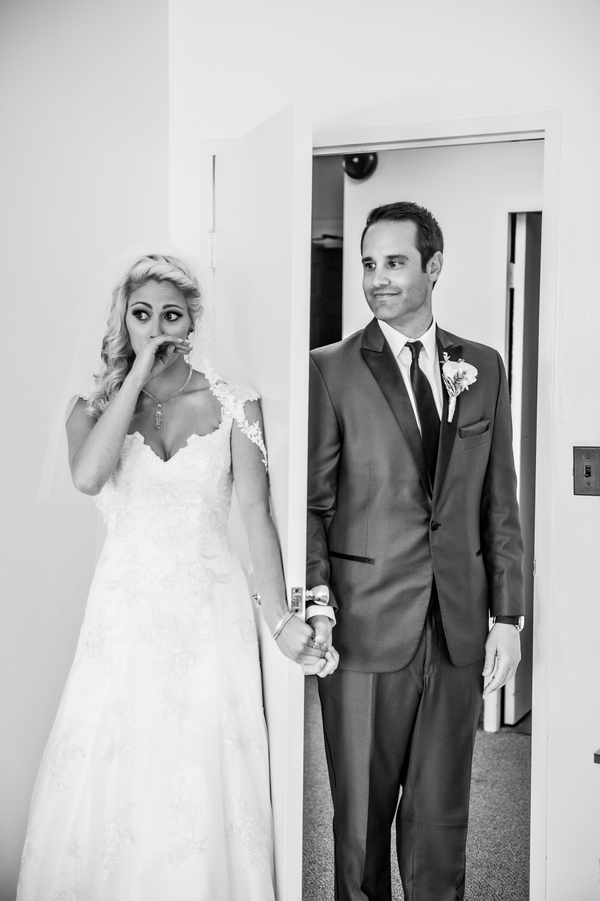 "Not a First Look - it's a First ""Touch"" Wedding Picture 