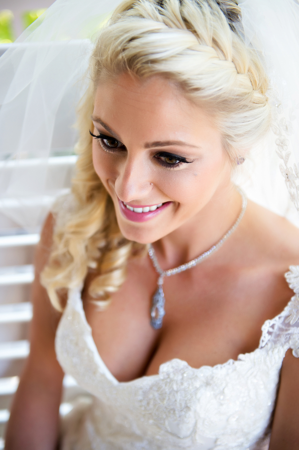 A Bride with an Elsa Braid | photo by Ross Costanza Photography | as seen on www.brendasweddingblog.com
