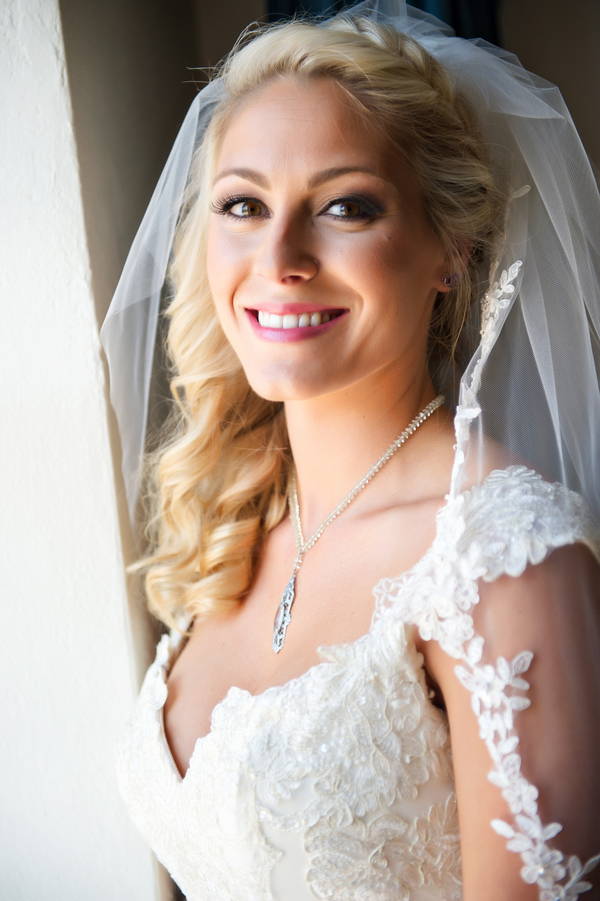 Gorgeous Bride in her Veil | photo by Ross Costanza Photography | as seen on www.brendasweddingblog.com