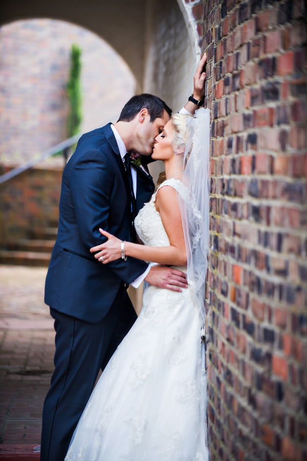 Sweet Intimate Moment with the Bride and Groom | photo by Ross Costanza Photography | as seen on www.brendasweddingblog.com