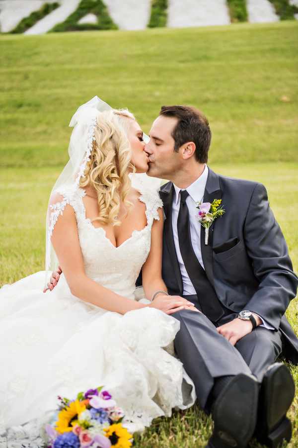 Sweet Moment with the Bride and Groom | photo by Ross Costanza Photography | as seen on www.brendasweddingblog.com