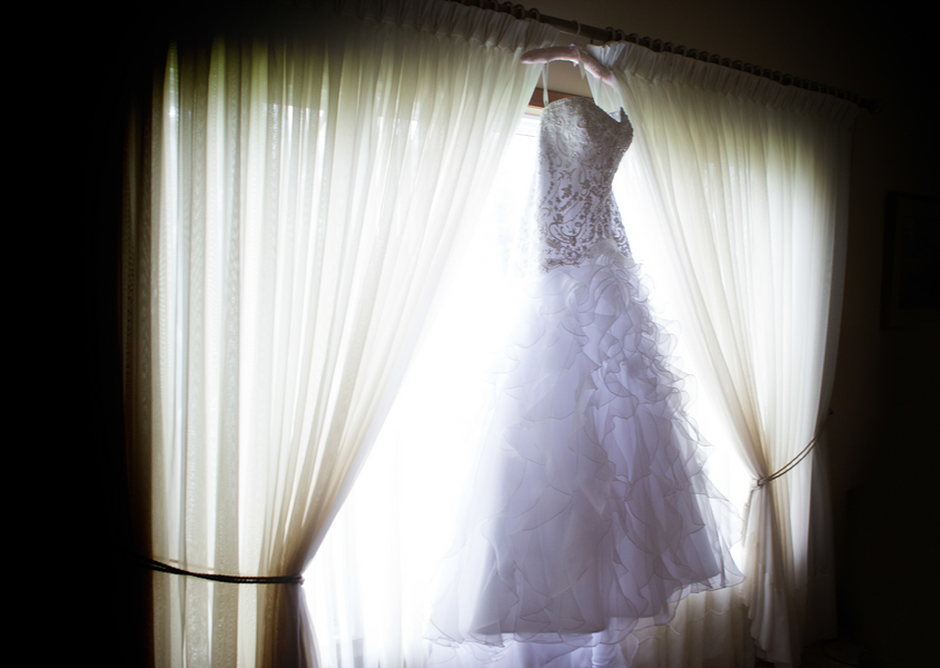 Super Pretty Wedding Gown with Ruffles | photo by Real Image Photography | as seen on www.brendasweddingblog.com