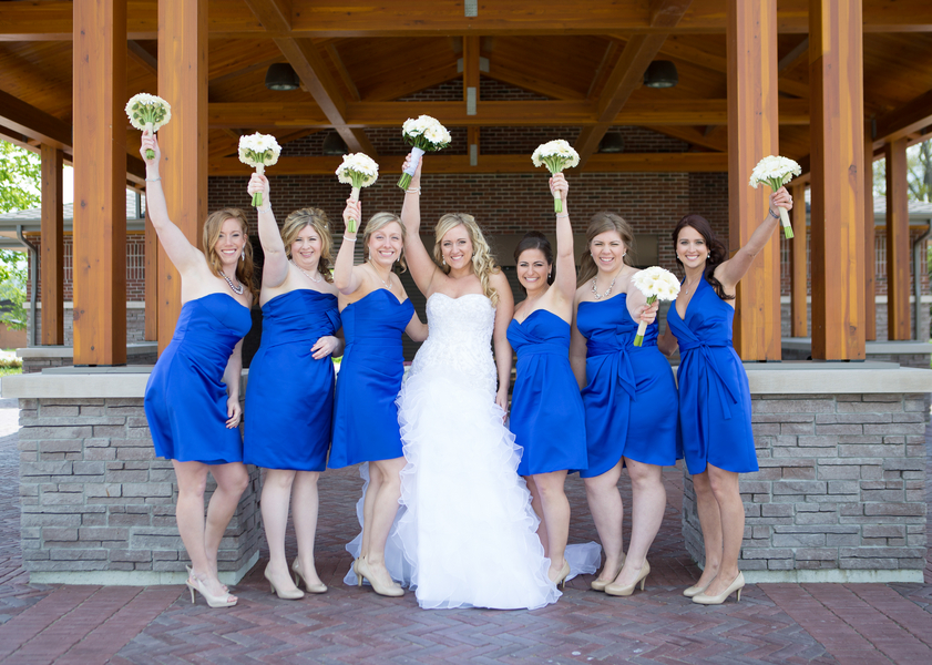 Bridesmaids in Blue Dresses | photo by Real Image Photography | as seen on www.brendasweddingblog.com