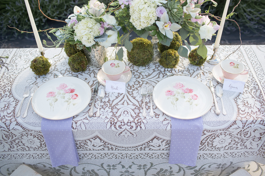 Bride and Groom Place Setting | photo by Ashley Cook Photography | as seen on www.BrendasWeddingBlog.com