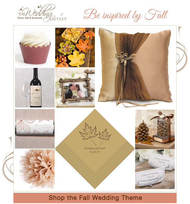Be Inspired by Fall with these Wedding Accessories from The Wedding Outlet | as seen on www.BrendasWeddingBlog.com