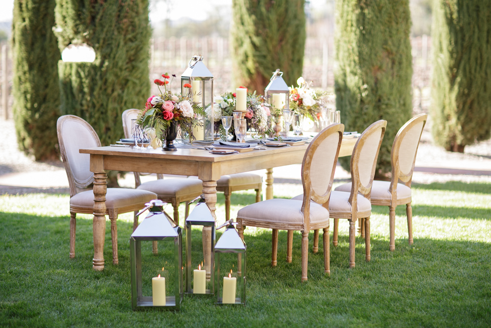 Farm to Table Chic Wedding Table Setting : Outdoor Theme for Fall Weddings | by Nancy Liu Chin Designs