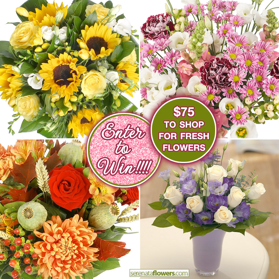 Enter to Win $75 in Fresh Floral Arrangements or Bouquets from Serenata Flowers on www.brendasweddingblog.com