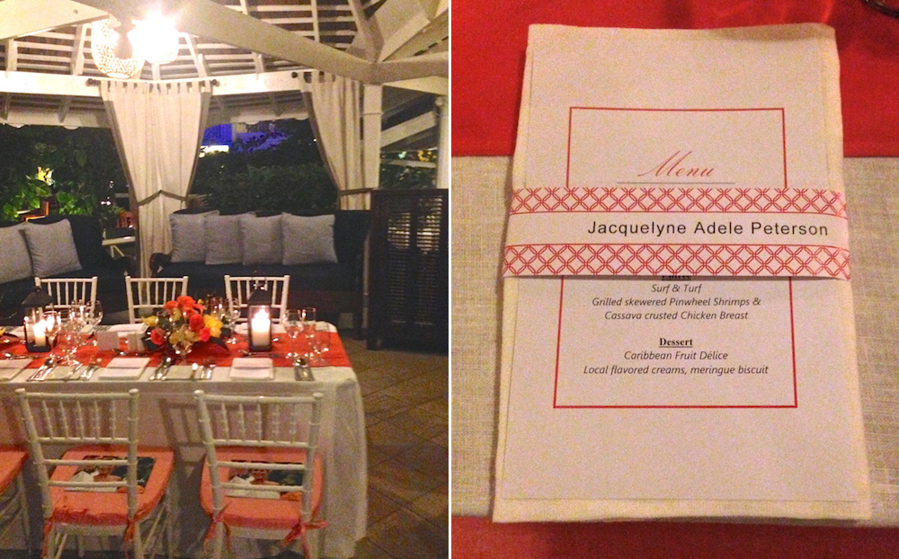 A Mock Wedding Reception at Sandals Royal Caribbean / One of the Top 3 Locations in Jamaica for Destination Weddings and Honeymoons / See all the details on www.BrendasWeddingBlog.com