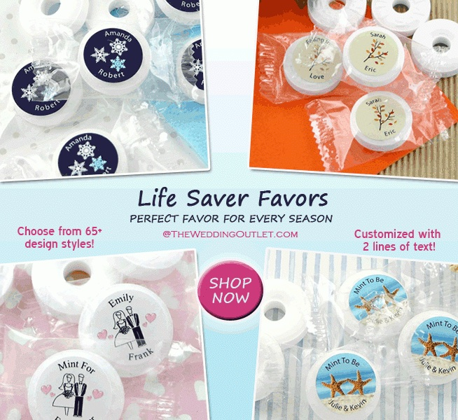 Life Saver Wedding Favors : the perfect favor for any season / as seen on www.brendasweddingblog.com