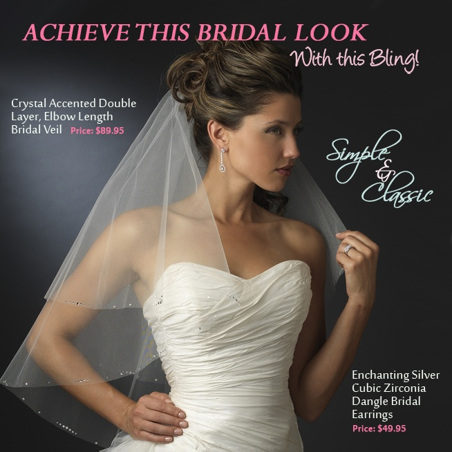 Simple and Classic Bridal Style | come see how to achieve this look on www.brendasweddingblog.com