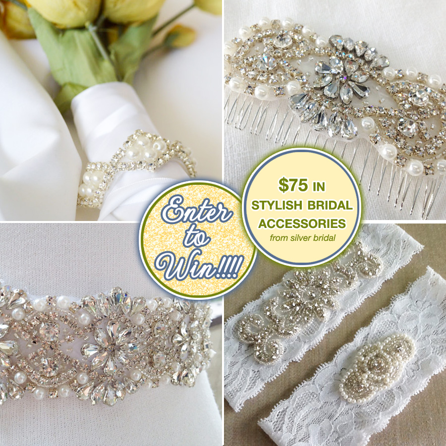 Enter to Win $75 in Stylish Bridal Accessories from Silver Bridal on www.BrendasWeddingBlog.com
