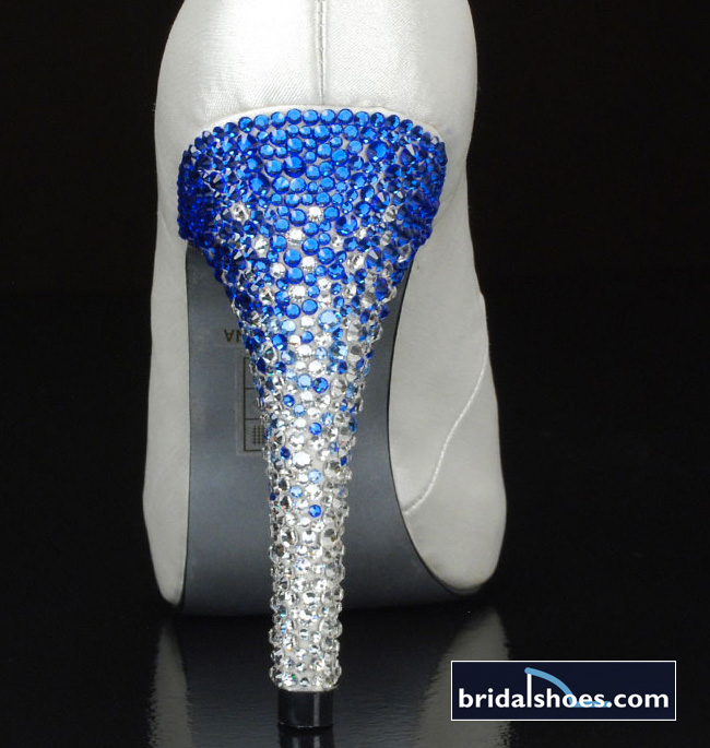 Go for the Bling with Your Wedding Shoes