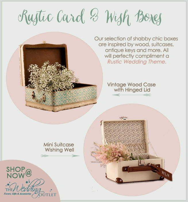 Rustic Wedding Card Boxes and Wish Boxes from The Wedding Outlet / as seen on www.brendasweddingblog.com