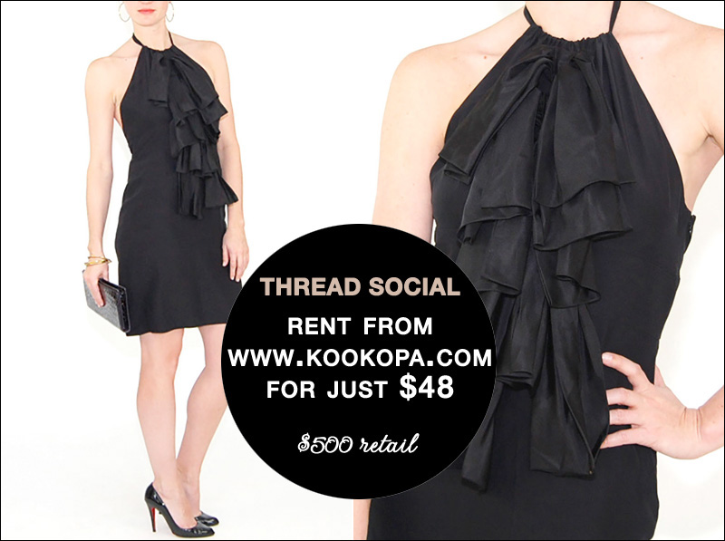 Rent this Thread Social Black Cocktail Dress from www.Kookopa.com for just $48/ read all about it on www.BrendasWeddingBlog.com