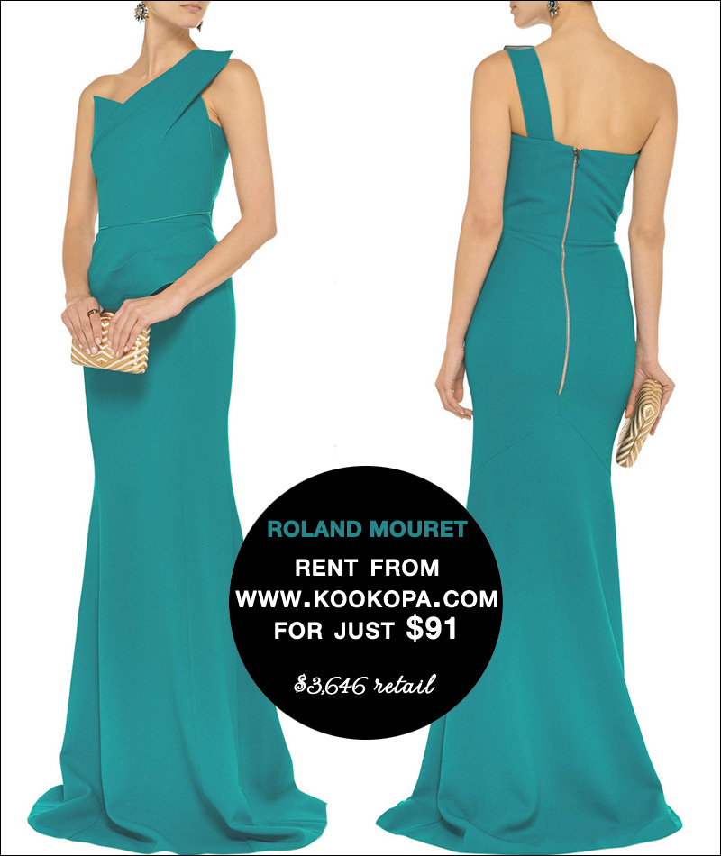 Rent this Roland Mouret Evening Dress from www.Kookopa.com for just $91 / read all about it on www.BrendasWeddingBlog.com
