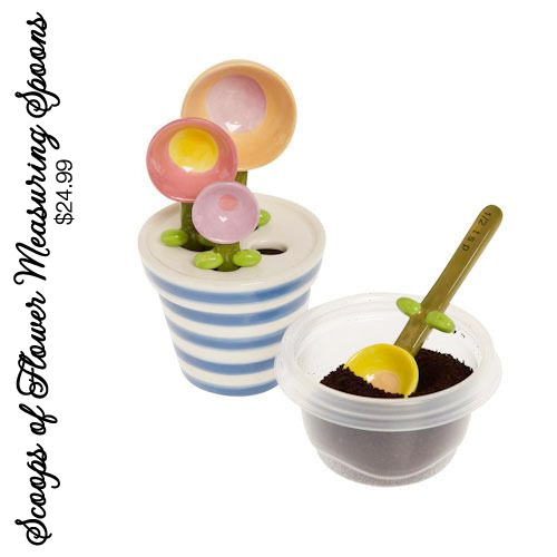 Scoops of Flower Measuring Spoons - these are beyond adorable!!! Perfect gift for bridal showers and the holidays | see more on www.brendasweddingblog.com