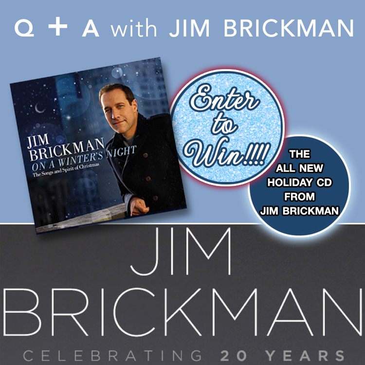 "Q+A with Jim Brickman, ""America's Romantic Piano Sensation"" PLUS a Giveaway to win 1 of 4 Jim Brickman's ""On a Winter's Night"" Holiday cd's / enter to win at www.brendasweddingblog.com"