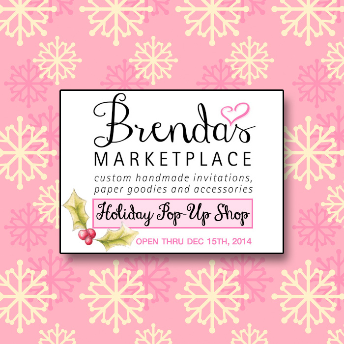 Brenda's Marketplace / Handmade Holiday Paper Goodies + Accessories Pop-Up Shop on www.BrendasWeddingBlog.com